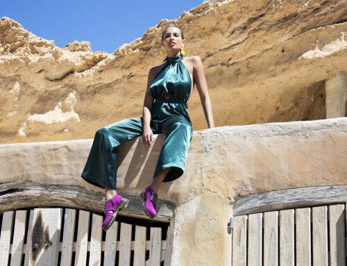 Colette suede purple gold