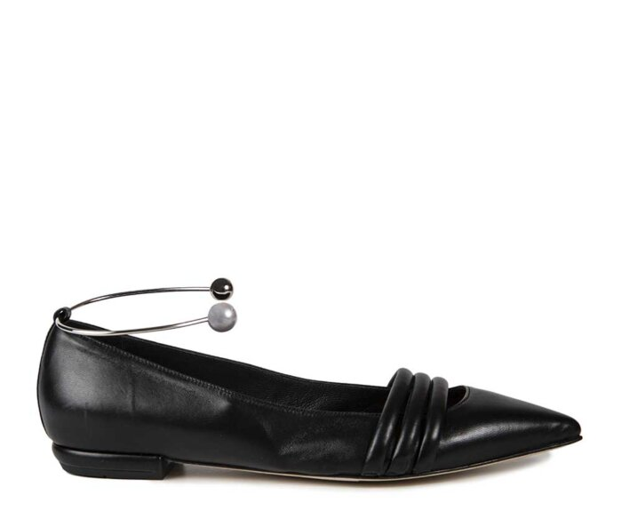 SAINT-TROPEZ-BLACK-LEATHER-SILVER-AND-PEARL-ANKLET3